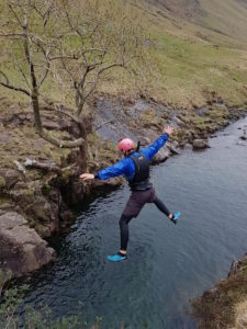 Jumping for Joy in the Esk Gorge