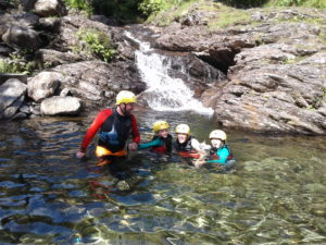 First dip on a family Gorge Walk