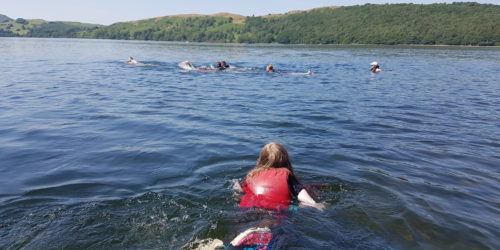 Swimming in Coniston Water