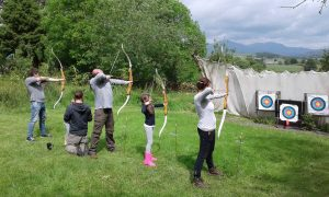 Family archery in the Lake Distirct