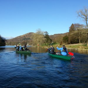 Great time canoeing on the River Leven at the bottom of Windermere