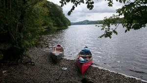 Canoes on Coniston Water