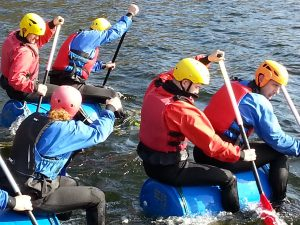 Team Building Raft Building in the Lake District