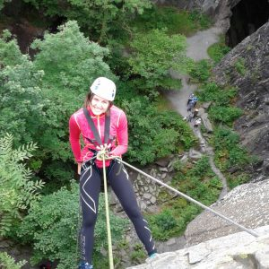 Lake District Abseiling at Cathedral Quarry