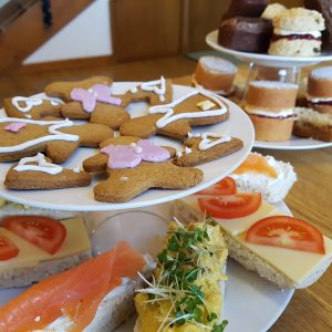 Afternoon tea at Lowick School Bunkhouse