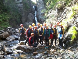 Group Ghyll Scrambling