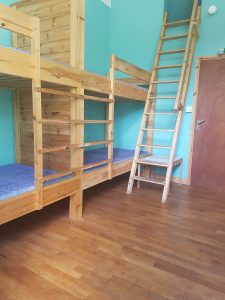 Lowick school bunkhouse bedroom